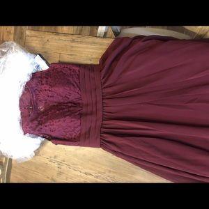 Size 2 burgundy open back dress